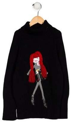 Sonia Rykiel Girls' Long Sleeve Knit Sweater
