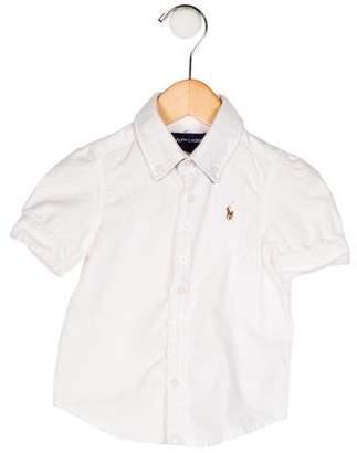 Ralph Lauren Boys' Embroidered Button-Up Shirt