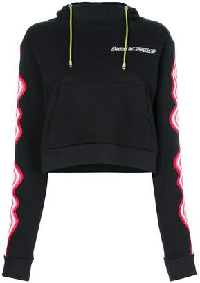 House of Holland cropped hypnotic hoodie