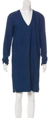 6397 Polka Dot V-Neck Dress