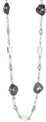 Stephen Dweck Baroque Pearl & Rock Crystal Necklace