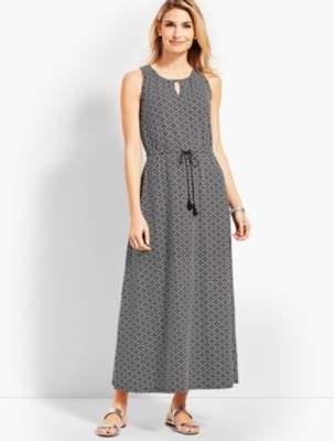 Talbots Avalon Tiles Casual Jersey Maxi Dress