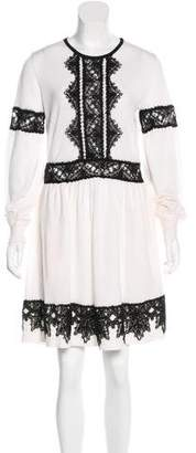 Alberta Ferretti Embroidered Sweater Dress w/ Tags