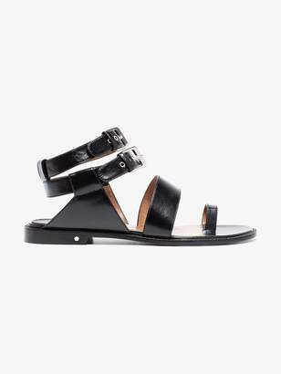 Laurence Dacade Black Ruiz Leather Sandals