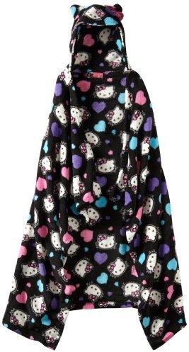 AME Sleepwear Girls 7-16 All Heart Kitty Hooded Top