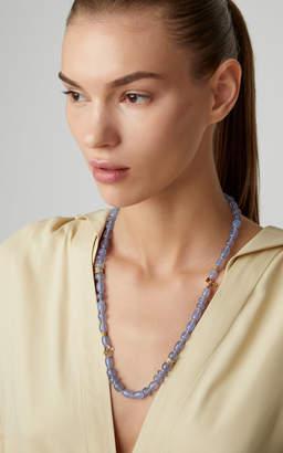 Mimi So 18K Gold Chalcedony and Diamond Necklace