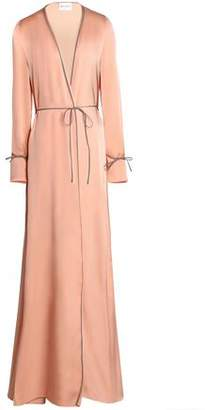 Vionnet Silk-Satin Wrap Maxi Dress