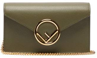 Fendi Ff Logo Leather Belt Bag - Womens - Khaki