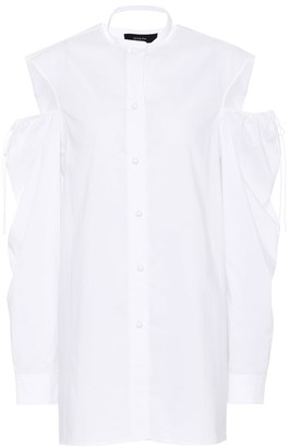 Joseph Cold-shoulder cotton blouse