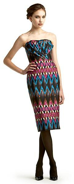 Tracy Reese Runway Pleated Strapless Dress