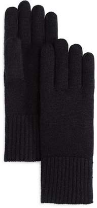 Bloomingdale's C by Chunky Rib-Trim Cashmere Gloves - 100% Exclusive