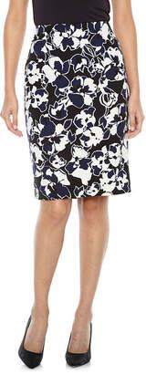 Evan Picone BLACK LABEL BY EVAN-PICONE Black Label by Evan-Picone Floral Suit Skirt