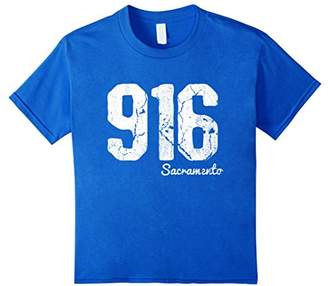 Code Vintage Sacramento California 916 Area T-Shirt