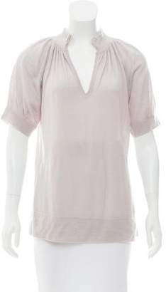 Allude Cashmere Short Sleeve Top