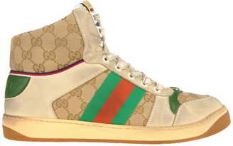Gucci Mens Screener Gg High-top Sneaker