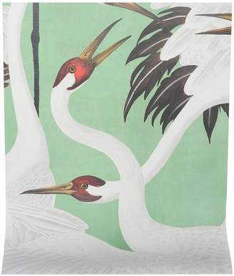 Gucci Heron printed wallpaper