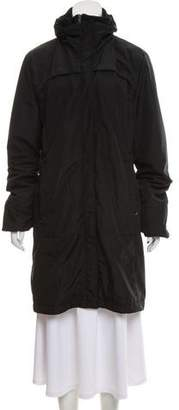 Post Card Knee-Length Zip-Up Coat