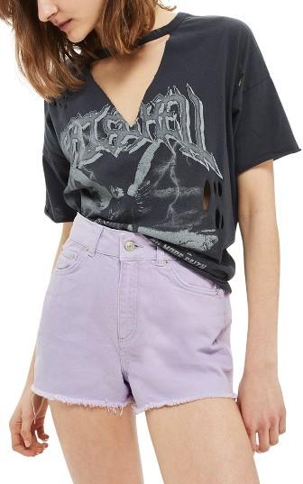 TopshopWomen's Topshop Cutoff Denim Shorts