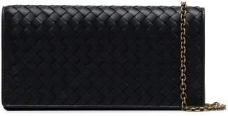 Bottega Veneta black Inrecciato continental leather wallet