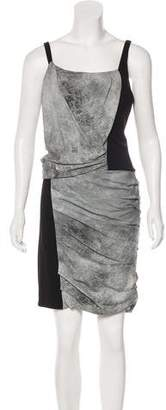 Helmut Lang Fitted Knee-Length Dress