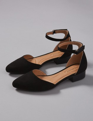 Two-Piece Ankle-Strap Flat