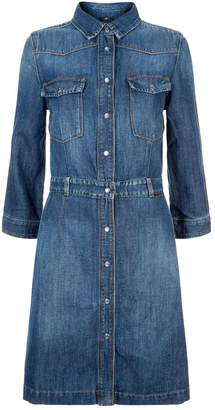 7 For All Mankind Victoria Denim Shirt Dress
