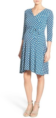 Women's Leota Faux Wrap Maternity Dress $158 thestylecure.com