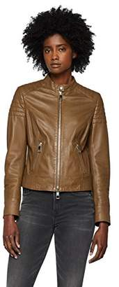 BOSS Women's Junique Jacket, (Medium Brown 211), (Size: 36)