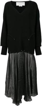 Esteban Cortazar flared sweater dress