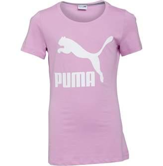 Puma Junior Girls Classics Logo T-Shirt Orchid