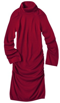 Mossimo Women's Turtle Neck Sweater Dress w/Ruching - Assorted Colors