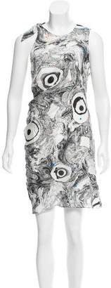 Acne Studios Silk Abstract Print Dress w/ Tags