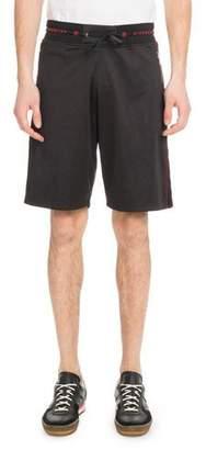 Givenchy Men's Velvet Piped Knit Shorts