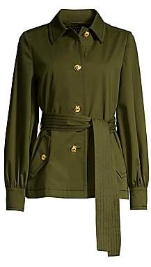 Escada Women's Bibina Brushed Cotton Belted Jacket