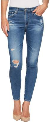 AG Adriano Goldschmied Farrah Skinny Ankle in 14 Years Blue Nile Destructed Women's Jeans