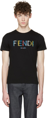 Fendi Black Stripe Logo T-Shirt $340 thestylecure.com