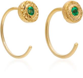 Octavia Elizabeth 18K Gold Emerald Earrings
