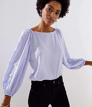 3a1fd0f71b2ddb LOFT White 3 4 Sleeve Women s Tops - ShopStyle