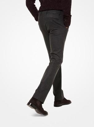 Michael Kors Slim-Fit Flannel Trousers