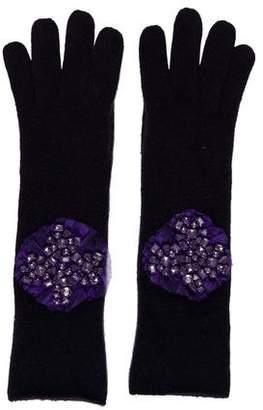 Portolano Cashmere Embellished Gloves