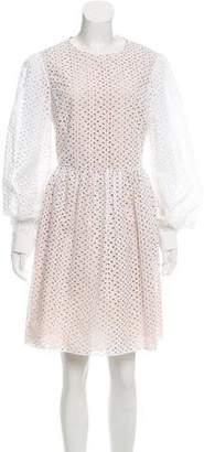 Michael Kors Eyelet Lace Knee-Length Dress
