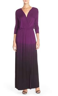 Fraiche by J Tie Dye Faux Wrap Maxi Dress