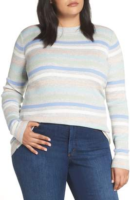 Halogen x Atlantic-Pacific Shimmer Stripe Sweater
