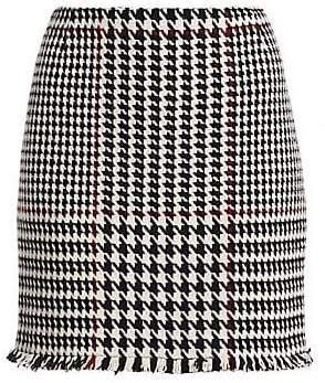 Akris Punto Women's Glen Check High-Waist Mini Skirt
