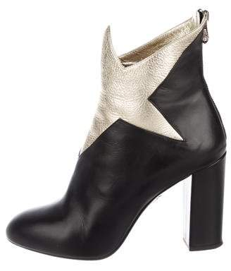Charlotte Olympia Galactica Leather Ankle Boots