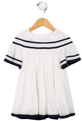 Chloé Girls' Pleated Short Sleeve Dress w/ Tags