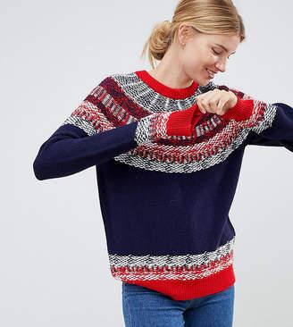 Asos Tall DESIGN Tall sweater in vintage fairisle