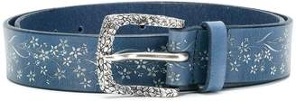 Orciani floral printed mid-width belt