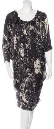 Lanvin Silk Printed Dress