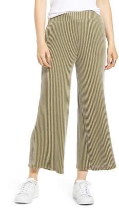 Socialite Stripe Knit Wide Leg Crop Pants